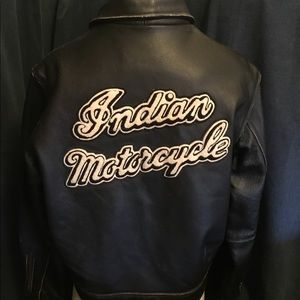 "🖤🖤LEATHER ""INDIAN MOTORCYCLE "" JACKET🖤🖤"